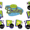 Simpsons bowling sticker set